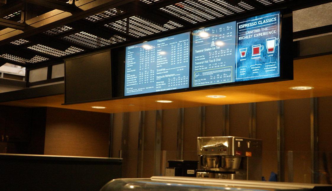 digital signage menu boards