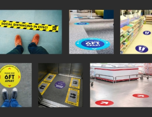 How Social Distancing Floor Stickers Help Practice Social Distancing in the UAE